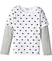 Kenzo Kids - Eyes Long Sleeves Tee Shirt (Toddler/Little Kids)