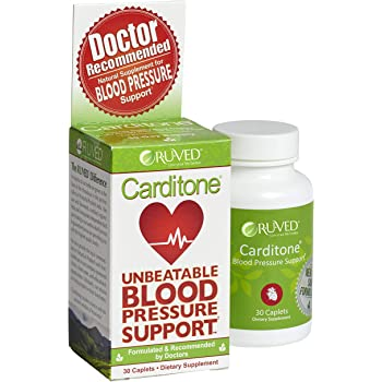 Carditone by RUVED, Unbeatable Blood Pressure Support, Promotes Relief From Cardiovascular Stress, 30 Count