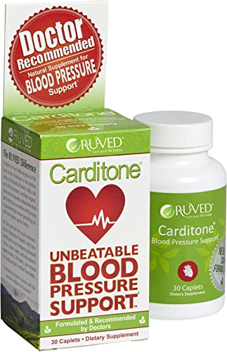 Carditone by RUVED, Unbeatable Blood Pressure Support, Promotes Relief From Cardiovascular Stress, 30 Count product image