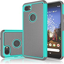 Google Pixel 3a Case, Takfox Protective Heavy Duty Hard Back & Soft Silicone Dual [Ysaturn] Shockproof Reinforced Armor Rugged Cover Case for Google Pixel 3a (2019)-Turquoise