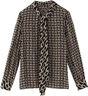 Massimo Dutti Women Chain Print Shirt 5155/892