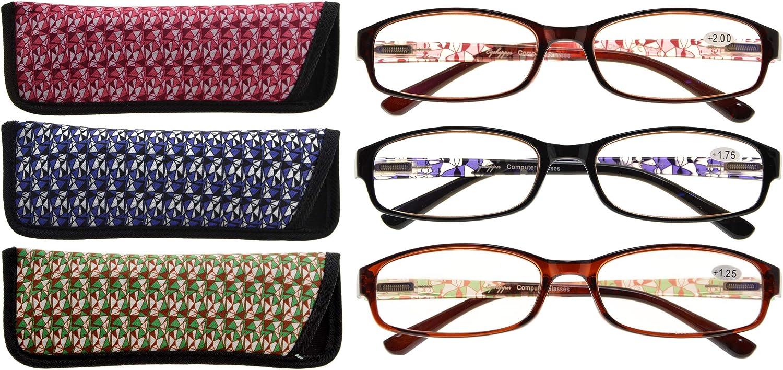 CessBlu Women's Reading Ranking TOP19 Glasses 3 Pattern Ladies NEW before selling ☆ Design Rea Pair