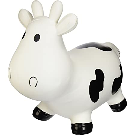 Black Cow Bouncy Cow Hopper with Pump
