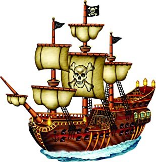 Great Colorful Pirate Ship Wall Decals - Boys Room Pirates Ships Kids Decor Sticker Room Decoration for Bedrooms - Childrens Vinyl Stickers Sticker Boy Designs Size 20x20 inch