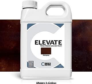 Elevate Water Based Concrete Stain, Semi-Transparent Concentrate Organic Concrete Colorant for Concrete and Cement, Makes 1 Gallon (200 sq ft), Mahogany