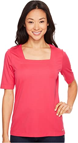 Elbow Sleeve with Square Neck Top