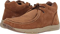 Tan Suede/Tan Canvas Vamp
