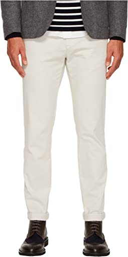 eleventy - Flat Front Regular Fit Stretch Cotton Pants