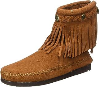 Minnetonka - Back Zip Boot - Marron