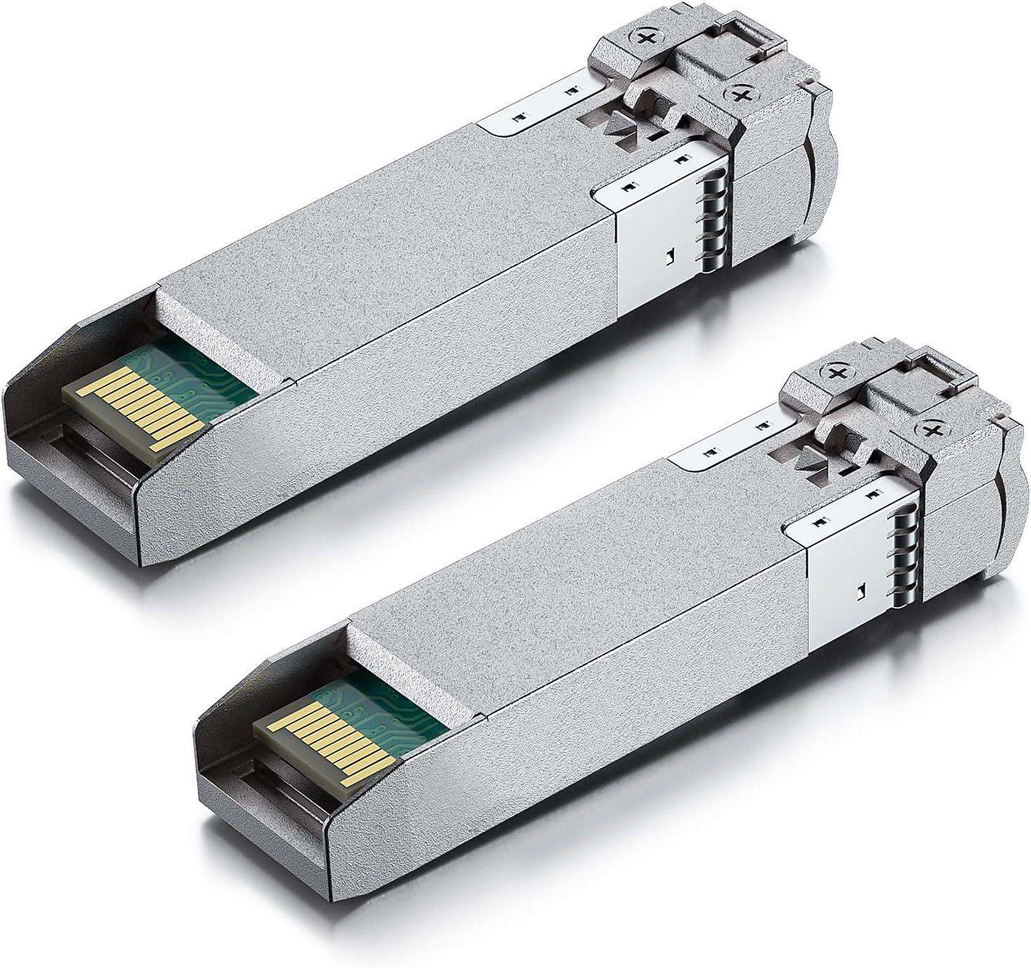a Pair of 10G SFP+ Bidi Transceiver, 10GBase-BIDI 1270nm/1330nm SMF, up to 40km, Compatible with Cisco SFP-10G-BX40D-I/SFP-10G-BX40U-I, Ubiquiti UniFi, Mikrotik, D-Link, Supermicro, Netgear and More