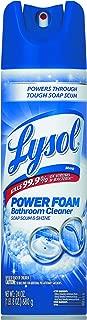 LYSOL Brand 02569CT Power Foam Bathroom Cleaner, 24 oz Aerosol (Case of 12)