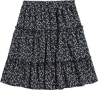 DIDK Femme Jupe en Jean Courte Taille Haute Mini Jupe Moulante avec Boutons Denim Jupe Et/é Skirt Casual