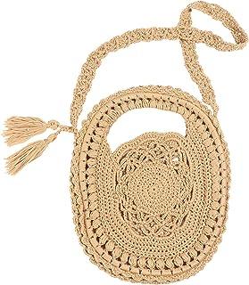 Handgewebte Crossbody Sommer Strand Schulter Handtasche für Frauen häkeln gewebt börse Tasche Quaste