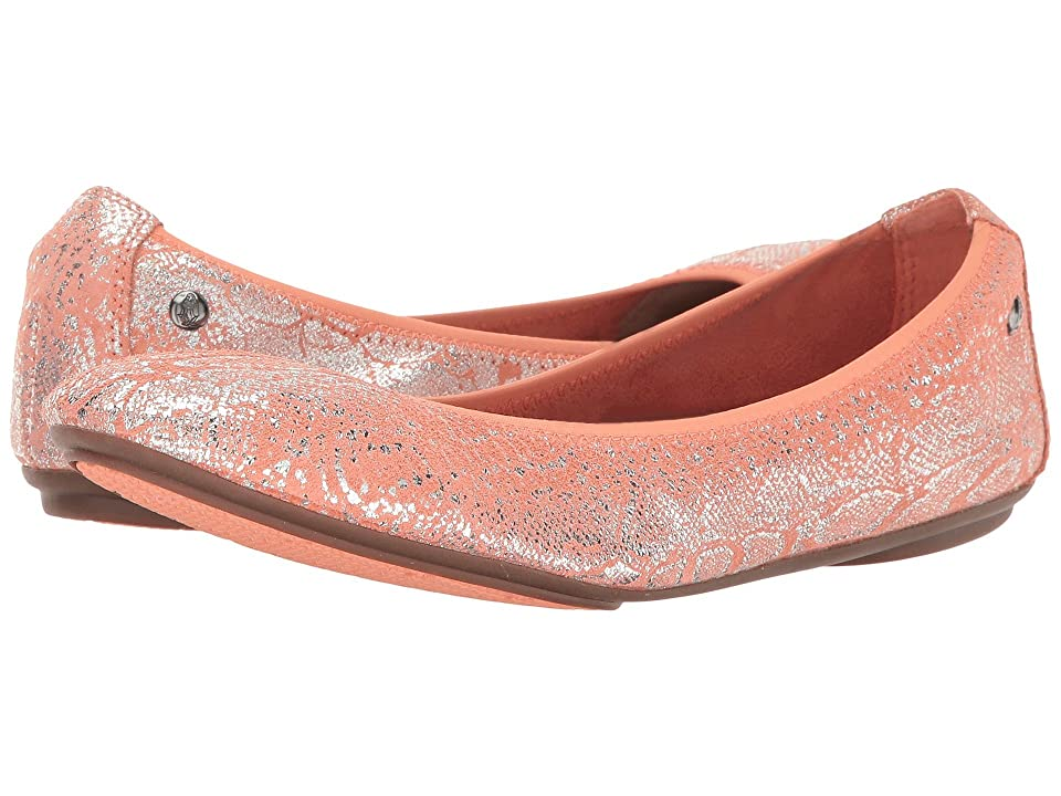 Hush Puppies Chaste Ballet (Peach Metallic Snake Suede) Women