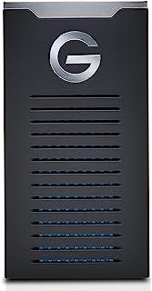 G-Technology 2TB G-Drive Mobile SSD Durable Portable External Storage - USB-C (USB 3.1 Gen 2) - 0G06054 Black Black 500GB