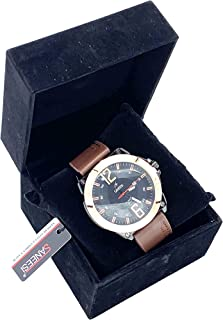 SANEESI Casual Watch For Men Analog Leather - MNW202013