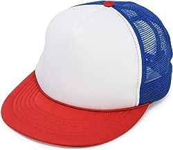 red white blue trucker hat