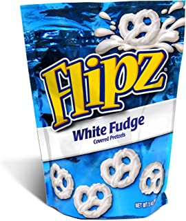 Flipz White Fudge Covered Pretzel, 5 Ounce (Pack of 6)