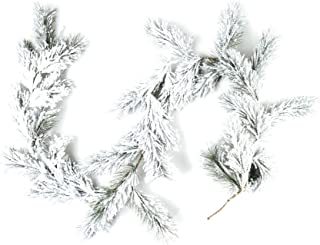 CraftMore Fairmont Pine Garland with White Snow - 6 Feet