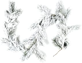 CraftMore Fairmont Pine Garland with White Snow - 6 Feet
