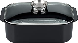 Elo 82662 - Fuente para asar en cocina de inducción, 40 x 25 cm, color negro