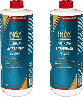 INOX® IX400 Siliconenverwijderaar, 2 x 1 liter, universele reiniger voor het losmaken en verwijderen van siliconen, vet, o...