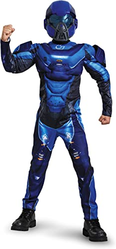 Disguise Spartan Classic Muscle Halo Microsoft Costume, Small 4-6, Blau by Disguise