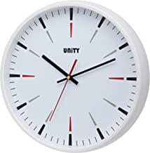 ساعة حائط من يونيتي جيبسون باللون الأبيض 32 سم / 32 سم