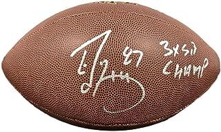 Ed McCaffrey Signed Football - 3x SB Champ Super Grip - JSA Certified - Autographed Footballs