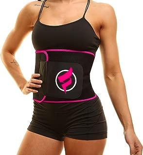 Fitru Waist Trimmer Weight Loss Ab Belt for Women & Men - Waist Trainer Stomach Wrap