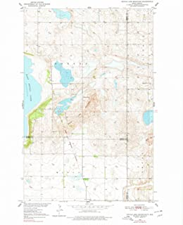 North Dakota Maps - 1950 Devils Lake Mountain, ND USGS Historical Topographic Map - Cartography Wall Art - 35in x 44in