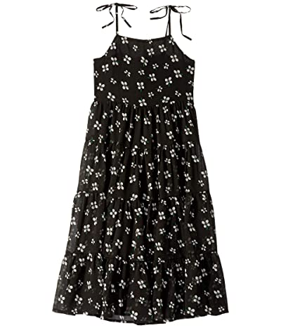 Bardot Junior Flo Tiered Dress (Big Kids) (Black Ditsy) Girl