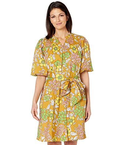 Tory Burch Swimwear Printed Tie Dress Cover-Up (Brown Wallpaper Floral) Women