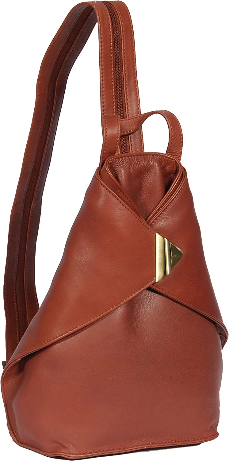A1 FASHION GOODS Womens Luxury Leather Backpack A58 Brown Rucksack Sport Hiking Organiser Bag New