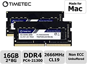 Timetec Hynix IC 16GB KIT(2x8GB) Compatible for Apple 2019 iMac 27-inch w/Retina 5K Display, Late 2018 Mac Mini DDR4 2666MHz PC4-21300 1Rx8 CL19 1.2V SODIMM Memory RAM Upgrade (16GB KIT(2x8GB))