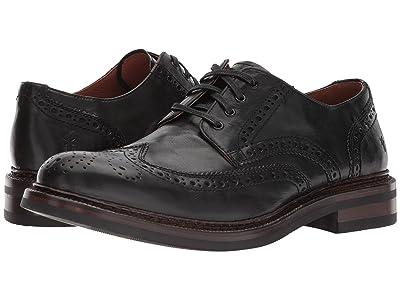 Frye Graham Wingtip (Black Pull Up Leather) Men