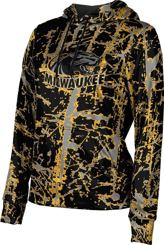 University of Wisconsin-Milwaukee Girls' Pullover Hoodie, School Spirit Sweatshirt (Distressed)