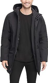 DKNY Men's Water Resistant Hooded Logo Parka Jacket