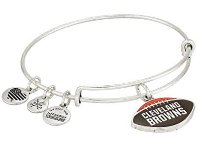 Alex and Ani Color Infusion Cleveland Browns Football II Bangle (Rafaelian Silver) Bracelet