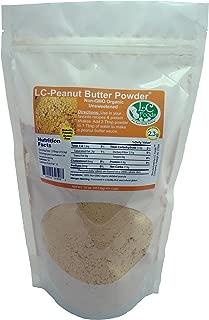 Low Carb Peanut Butter Powder - LC Foods - Organic - Gluten Free - No Sugar - Diabetic Friendly - 16 oz