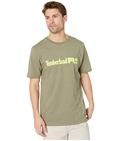 Timberland PRO Base Plate Short Sleeve T-Shirt with Logo (Burnt Olive Heather) Men
