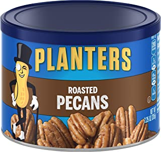 PLANTERS Roasted Pecans, 7.25 Oz. Resealable Canister - Salted Pecans - Snacks for Adults - Kids Snacks - Vegan Snacks, Ko...