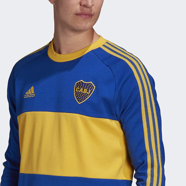 Adidas 2020-21 Boca Juniors Long-Sleeve Icons Jersey - Blue-Yellow