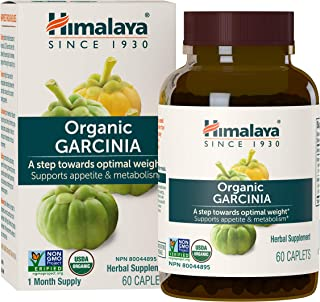 Himalaya Organic Garcinia Cambogia for Weight Loss, Promotes Healthy Body Weight and Metabolism, 600 mg, 60 Caplets, 1 Mon...