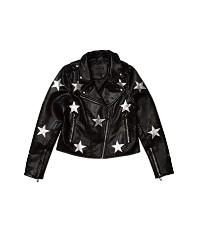Blank NYC Kids Vegan Leather Moto Jacket with Stars (Big Kids) (Stardust) Girl