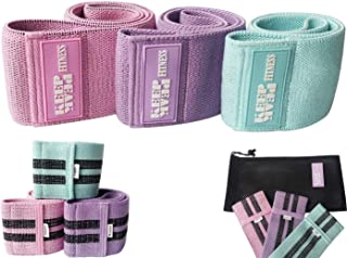 KEEPPEAK Resistance Booty Bands Set: 3 Non-Slip Fabric Exercise Bands for Butt, Leg & Arm Workout. Perfect Gym Home & Trav...