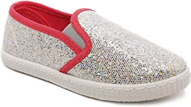 Girl's Slip On Comfortable Sneakers for Girls Sneakers with Cute Glitter Sparkle Sneakers