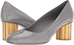 Patent Leather Mid-Heel Pump