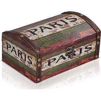 Brynnberg Caja de Madera 20x13x9cm - Cofre del Tesoro Pirata de ...