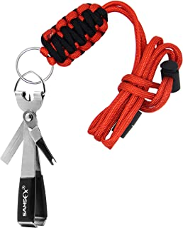 SAMSFX Quick Knot Tool and Fly Fishing Tippet Spool Holder Necklace Lanyard Combo